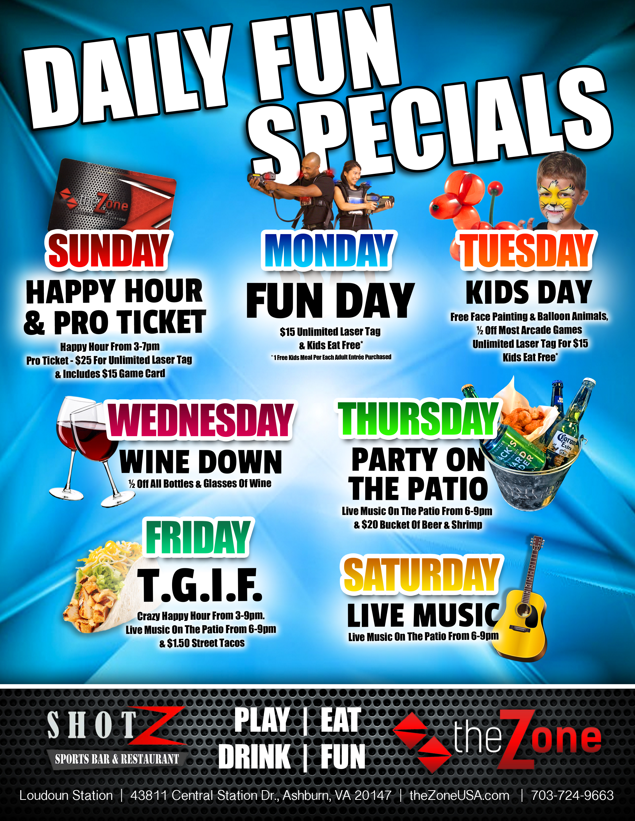 Daily Fun Specials Blue