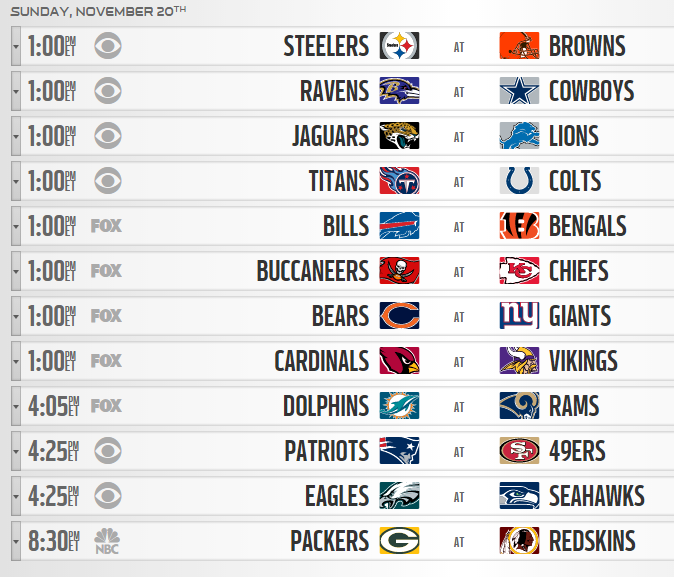 It S Week 11 Of The Nfl Schedule And The Games Today Are Going To The Zone Restaurant And Bar In Ashburn Va