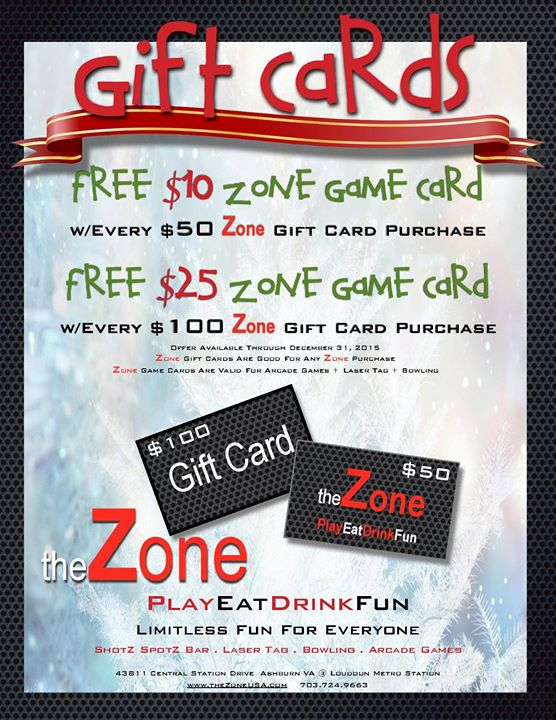 9d3f9e8b828 Don t forget to get your ZONE GIFT CARDS- the perfect stocking stuffer for  people…