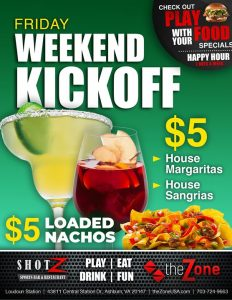 Kickoff your Weekend with us on Friday! Our TGIF specials can't be beaten. Get…