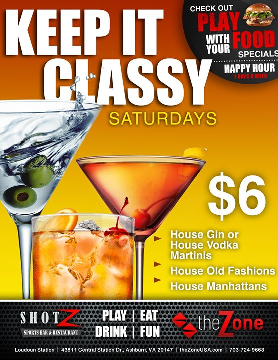 We like to KEEP IT CLASSY on SATURDAYS! Join us for fun and get…